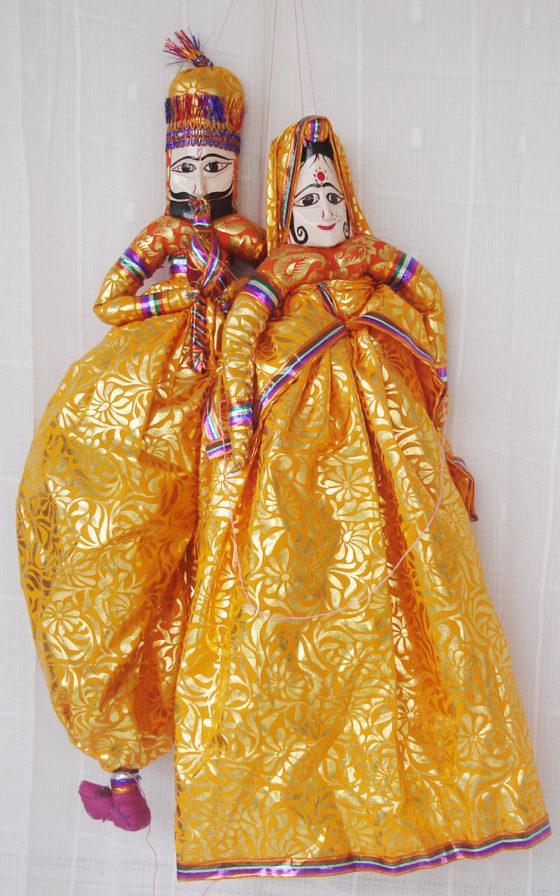Golden Kathputli Puppet