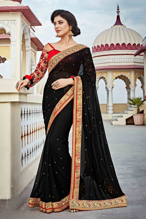 Black Banglori Silk Saree