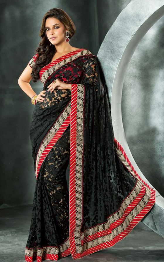 Black Bollywood Saree