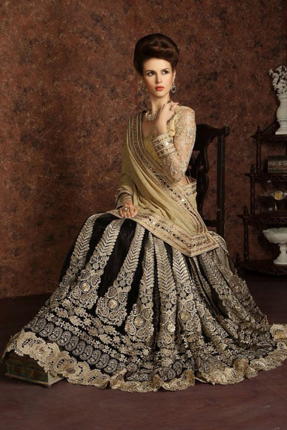 Black Fancy Bridal Saree