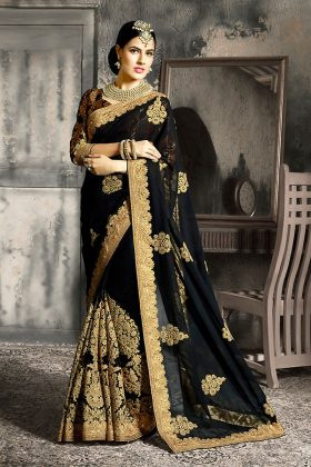 The Magic of Black Color Designer Sarees