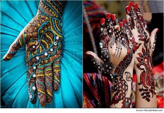 Colored Mehendi Design